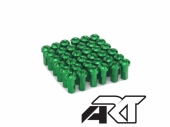 Kit têtes de rayon universel anodisées A.R.T vert  pour rayons Ø 4mm têtes de rayons