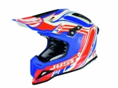 Casque Just1 J12 Flame rouge/bleu casques