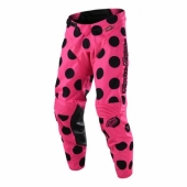 Pantalon Troy Lee Designs GP Polka Dot Noir Rose Fluo 2018 maillots pantalons