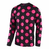 Maillot Troy Lee Designs GP Polka Dot Noir Rose Fluo 2018 maillots pantalons