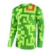 Maillot Troy Lee Designs GP Maze Jaune Vert Fluo 2018 maillots pantalons