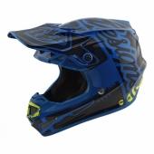 Casque Polyacrylite Troy Lee Designs SE4 Factory Bleu casques