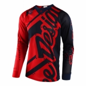 Maillot Troy Lee Designs SE Air Shadow Bleu Rouge maillots pantalons