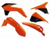 Kit plastiques RACETECH couleur origine 14 orange/noir KTM 200 EX-C 2014-2016 kit plastiques racetech