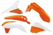 Kit plastiques RACETECH couleur origine 15-16 orange/blanc KTM 200 EX-C 2014-2016 kit plastiques racetech