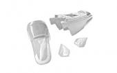 Kit plastiques ART type origine blanc Yamaha PW50 plastique pw