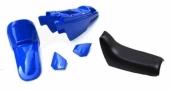 Kit plastiques ART couleur origine bleu avec selle complète noire Yamaha PW50 plastique pw