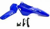 Kit plastiques ART bleu Yamaha PW 80 (avec protection de chaine) plastique pw