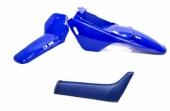 Kit plastiques ART couleur origine bleu avec selle complète bleu Yamaha PW 80 plastique pw