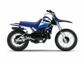 Kit plastiques ART couleur origine bleu avec selle complète bleu + kit déco KUTVEK Racer bleu Yamaha PW 80 plastique pw