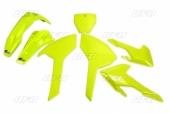 Kit plastiques UFO jaune fluo Husqvarna 250 FC 2016-2018 kit plastiques ufo
