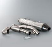 LIGNE ECHAPPEMENTS HGS ALUMINIUM EMBOUT CARBONE KTM 450 SX-F 2013-2015 echappements