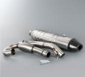 LIGNE ECHAPPEMENTS HGS ALUMINIUM EMBOUT CARBONE KTM 350 SX-F 2013-2015 echappements