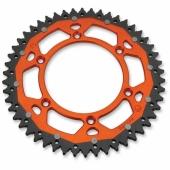 COURONNE MOOSE RACING ACIER/ALU ORANGE KTM 125 SX 2001-2017 pignon couronne