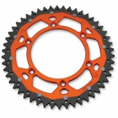 COURONNE MOOSE RACING ACIER/ALU ORANGE KTM 125 EX-C 2001-2016 pignon couronne