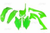 Kit plastiques UFO vert fluo Kawasaki  450 KX-F 2016-2017 kit plastiques ufo