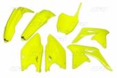 Kit plastiques UFO jaune fluo Suzuki 250 RM-Z 2014-2017 kit plastiques ufo