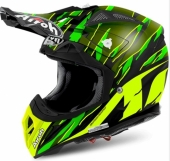 CASQUE AIROH AVIATOR 2.2 THREAT VERT MATT casques