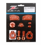 KIT COMPLET ANODISE ORANGE ZETA KTM 85 SX 2015-2017 kit complet anodisé