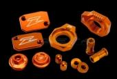 KIT COMPLET ANODISE ORANGE ZETA KTM 250 EX-C 2006-2017 kit complet anodisé