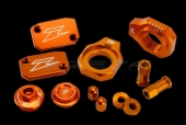 KIT COMPLET ANODISE ORANGE ZETA KTM 400 EX-C 2009-2011 kit complet anodisé