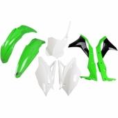 Kit plastiques UFO origine  vert/noir/blanc Kawasaki 250 KX-F 2017 kit plastiques ufo