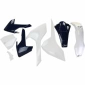 Kit plastiques UFO couleur origine 16 blanc/bleu Husqvarna 250 TC 2016-2017 kit plastiques ufo
