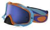 LUNETTE  OAKLEY Crowbar Heritage Racer Bright Orange écran Ice Iridium lunettes