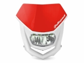 Plaque phare POLISPORT Halo LED rouge/blanc plaques phare