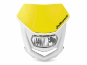 Plaque phare POLISPORT Halo LED jaune/blanc plaques phare