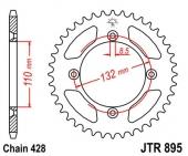 Couronne acier 46 dents JT Sprockets  HUSQVARNA 85 TC 2014-2017 petites roues pignon couronne