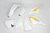 Kit plastiques UFO couleur origine blanc/jaune Husqvarna 250 FC 2015 kit plastiques ufo