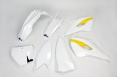 Kit plastiques UFO couleur origine blanc/jaune Husqvarna 350 FC 2015 kit plastiques ufo