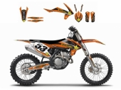 Kit deco BLACKBIRD Rockstar Energy KTM  250 SX 2017 kit deco
