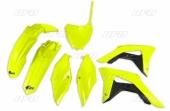 Kit plastique UFO jaune fluo Honda 450 CR-F 2017-2018 kit plastiques ufo