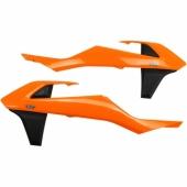 ouies de radiateurs UFO ORANGE/NOIR KTM 350 SX-F 2016-2018 plastiques ufo