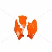 Plaques latérales + couvercle boite à air UFO orange FLUO KTM 350 SX-F 2016-2018 plastiques ufo