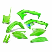 KIT PLASTIQUE CYCRA 6 ELEMENTS VERT KAWASAKI 450 KX-F 2016-2018 kit plastique cycra powerflow