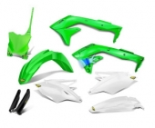 KIT PLASTIQUE CYCRA 6 ELEMENTS VERT FLUO 450 KX-F 2016-2017 kit plastique cycra powerflow