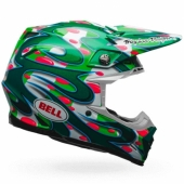 Casque BELL Moto-9 Flex Mc Grath Replica vert casques