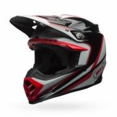 Casque BELL Moto 9 Spark rouge/noir  casques