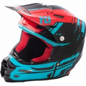 CASQUE CROSS FLY RACING F2 CARBON FORGE ROUGE/BLEU 2018 casques