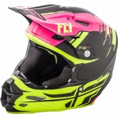 CASQUE CROSS FLY RACING F2 CARBON FORGE JAUNE/ROSE 2018 casques
