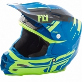 CASQUE CROSS FLY RACING F2 CARBON FORGE BLEU/JAUNE 2018 casques