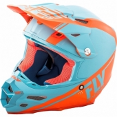 CASQUE CROSS FLY RACING F2 CARBON REWIRE ORANGE/BLEU 2018 casques