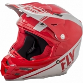 CASQUE CROSS FLY RACING F2 CARBON REWIRE BLANC/ROUGE 2018 casques