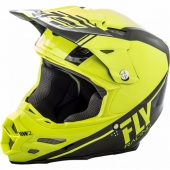 CASQUE CROSS FLY RACING F2 CARBON REWIRE NOIR/JAUNE 2018 casques