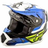CASQUE CROSS FLY RACING TOXIN noir/blanc /bleu 2018 casques