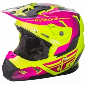 CASQUE CROSS FLY RACING TOXIN MAT/ROSE 2018 casques