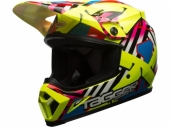 Casque BELL MX-9 Mips Tagger Gloss Double Trouble jaune casques